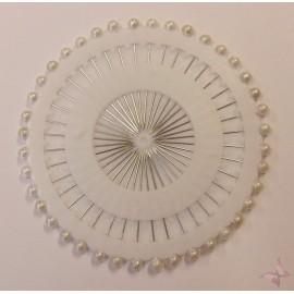 Ace gamalie - Bolduri cu perle albe